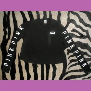 Victorias Secret PINK Black Longsleeve Thermal